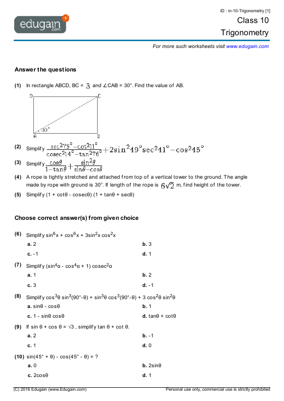 math worksheet : canadian grade 10 math worksheets  educational math activities : Canadian Math Worksheets