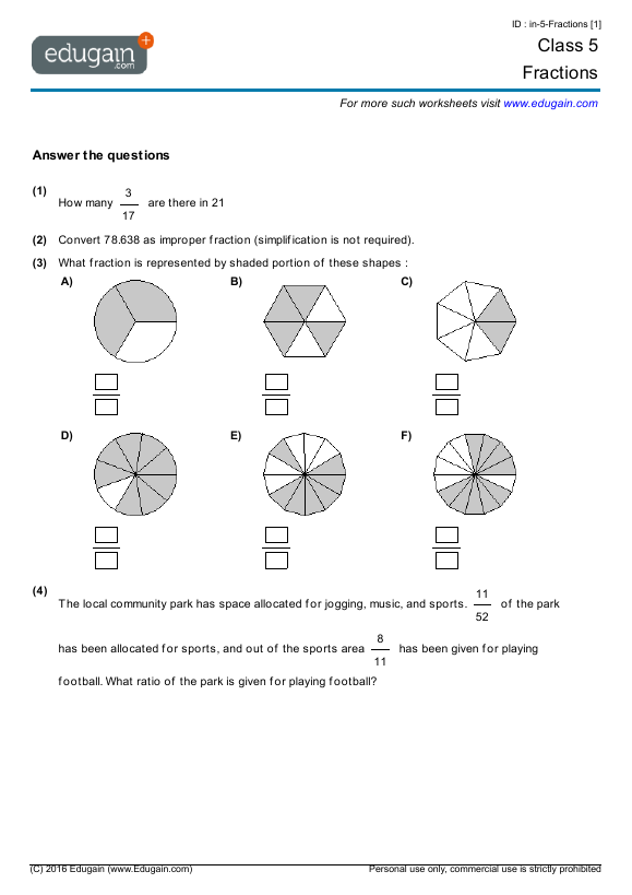 Grade 4 math worksheets ontario printable