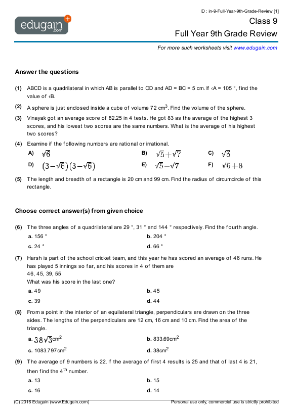math worksheet : grade 9 math worksheets printable canada  educational math activities : Canadian Math Worksheets